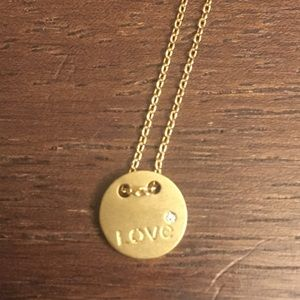 "Jewelry - Gold ""Love"" Necklace"